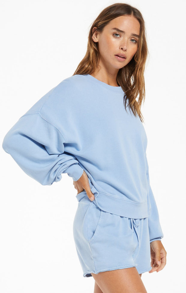 Z Supply Be Kind Cotton Pullover (Perennial Blue)