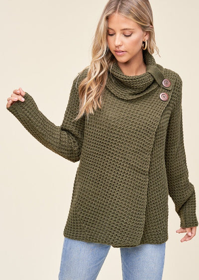 Staccato Snuggle Up Sweater (Olive)