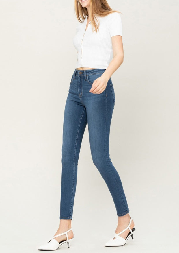 Flying Monkey High Rise Butter Jean (Mid Wash)