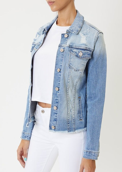 Kancan Distressed Jean Jacket