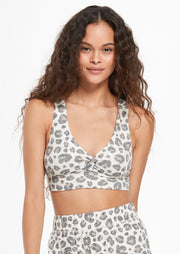 Z Supply Twisted Leopard Bralette