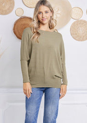 Jolie All Day Slouch Top (Olive)