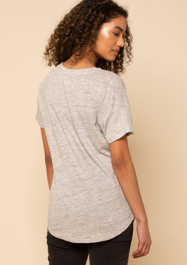 Thread & Supply Linen Tee (Grey)