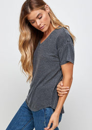 Thread & Supply Linen Tee (Charcoal)