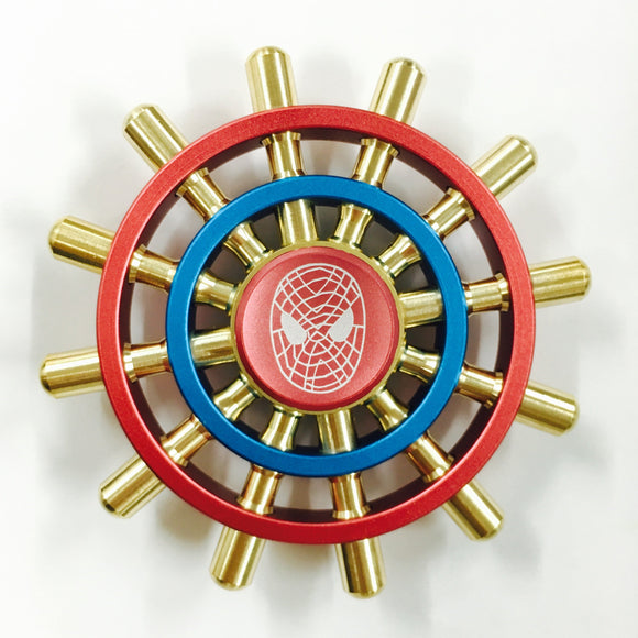 Fidget 12-Spoke Spider Shipwheel Spinner