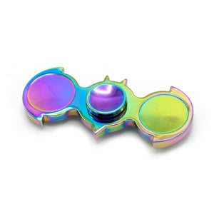 BATMAN Hand Fidget Spinner Rainbow Alloy Finger DUAL EDC Toy ADHD Autism US SHIP
