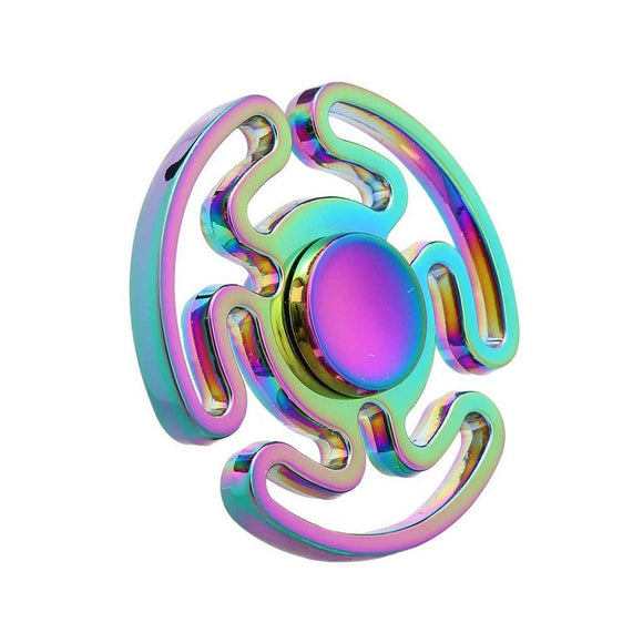 Fidget Colorful/Rainbow Cloud Tri Spinner - Stage 3 - Cowboy Wholesale