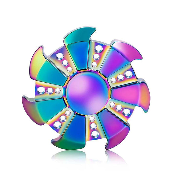 Rainbow Spinner EDC Fidget Hand Spinner Torqbar ADHD Autism Finger Spinner Toy - From ebay - Cowboy Wholesale
