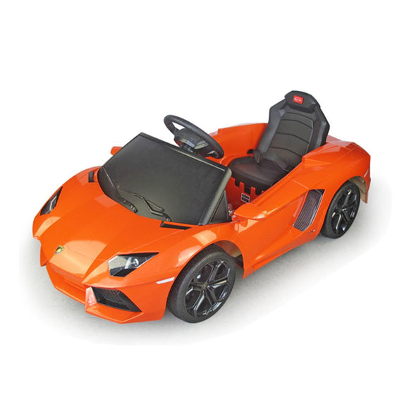 TechHype Kids Ride On Toy Car Lamborghini With Parental Remote Control (81700) - Yellow - Kids Ride On Cars - Cowboy Wholesale