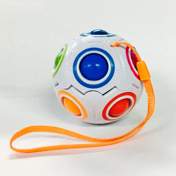 Fidget Plastic White Ball w/ Small Color Balls