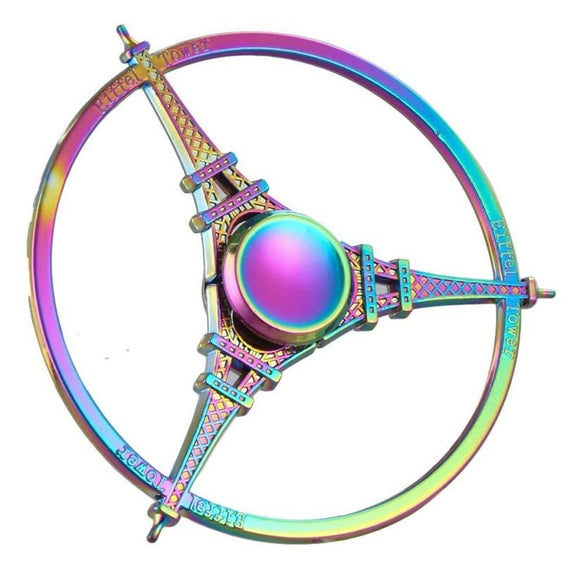 Fidget Zinc Alloy Metal Spinner (Colorful Rainbow - Eiffel Tower)