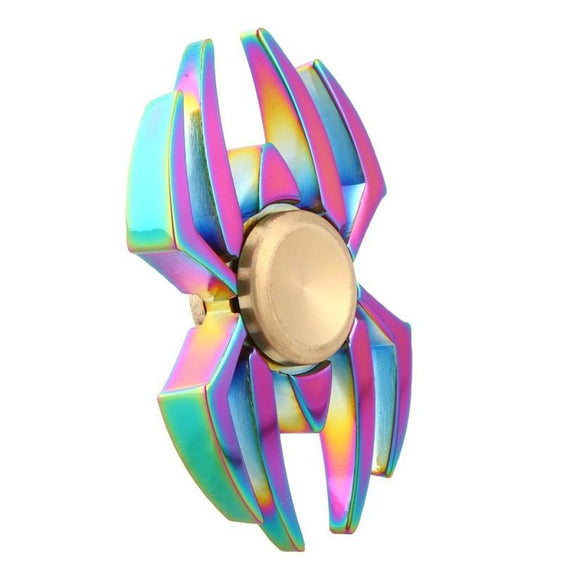 Fidget Zinc Alloy Metal Spinner (Colorful Rainbow - Spider)