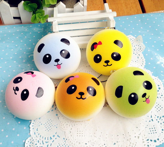 Squishy Toy - Panda Keychain (12 Pack)