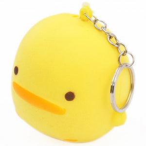 Squishy Toy - Yellow Chick Keychain