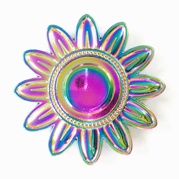 Fidget Zinc Alloy Metal Spinner (Sunflower w/ Wave Edge)
