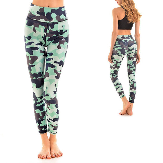 LOTUSX™ TEAL CAMO LEGGINGS