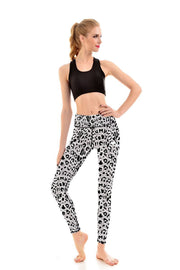 LOTUSX™ WHITE LEOPARD LEGGINGS