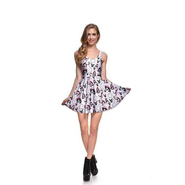 CAT LADY SKATER DRESS