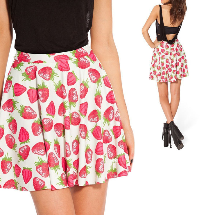 STRAWBERRIES AND CREAM SKATER SKIRT