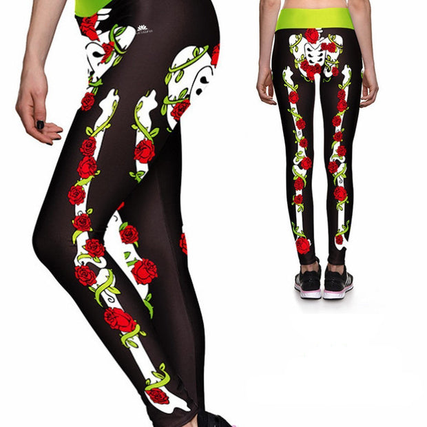 ROSES AND BONES ATHLETIC LEGGINGS