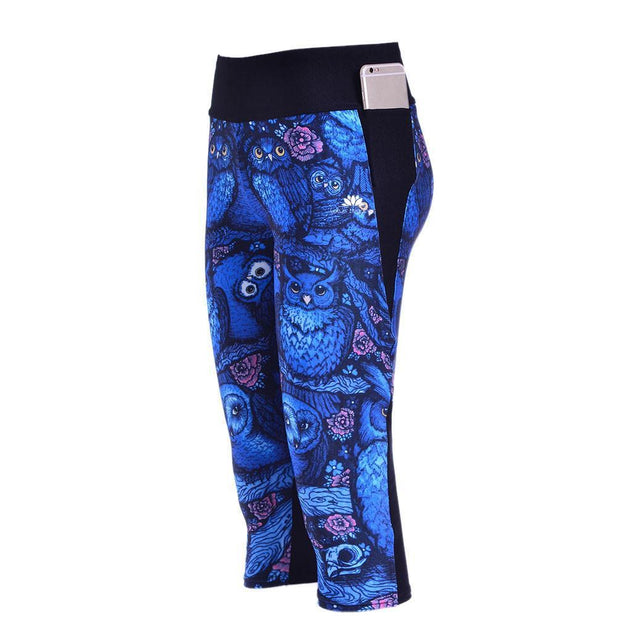 MIDNIGHT OWL ATHLETIC CAPRI