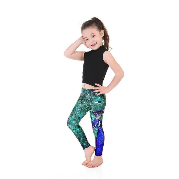 KID'S PEACOCK LEGGINGS