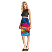 ABSTRACT NATURE PENCIL SKIRT