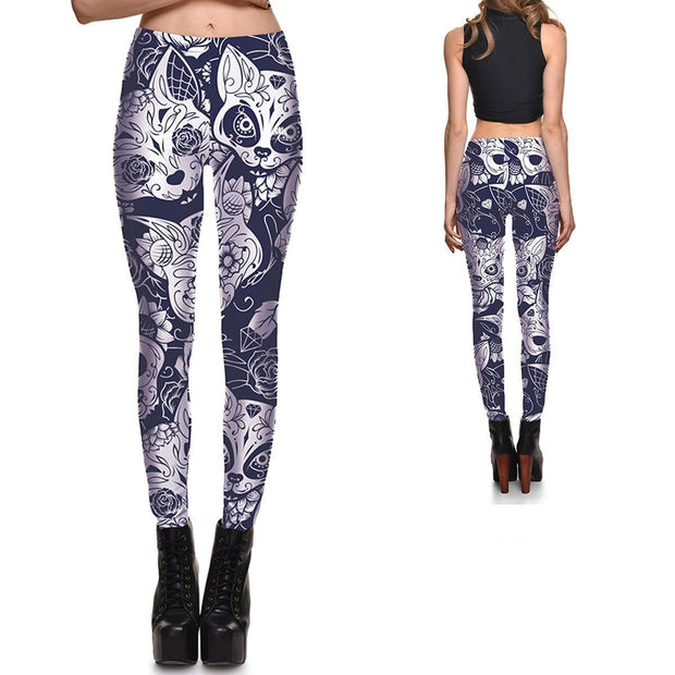 CREEPY KITTY LEGGINGS