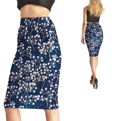 BABY BLOOMS PENCIL SKIRT
