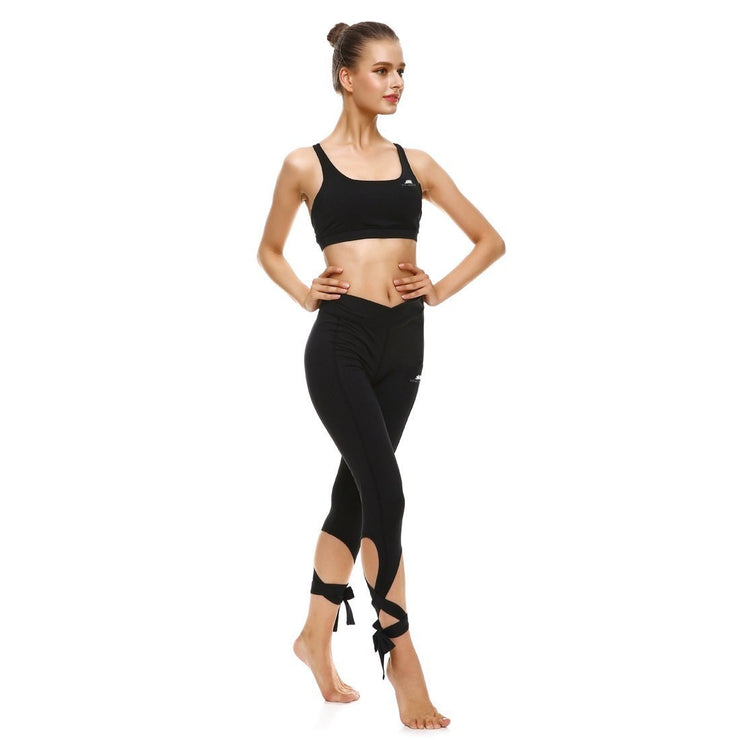 BLACKOUT TIE-UP LEGGINGS