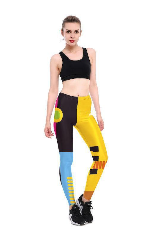 COLORFUL GEO LEGGINGS
