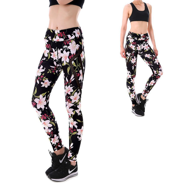 PINK FLORAL MAXPERFORMANCE LEGGINGS