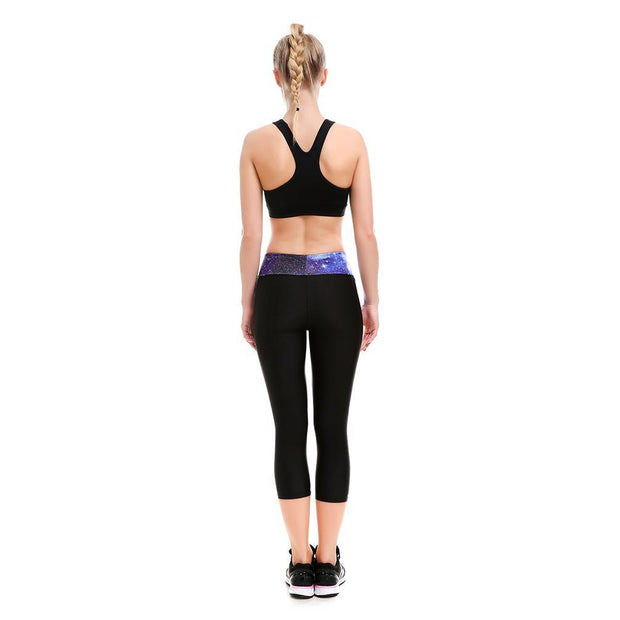 Purple Athletic Long Capri - Lotus Leggings