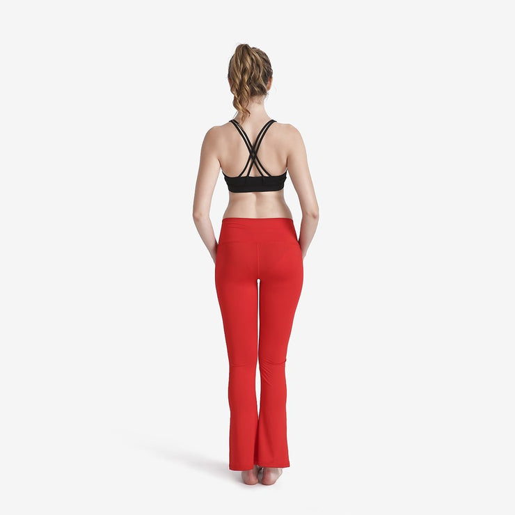 ROSY RED FLARE BOTTOM LEGGINGS