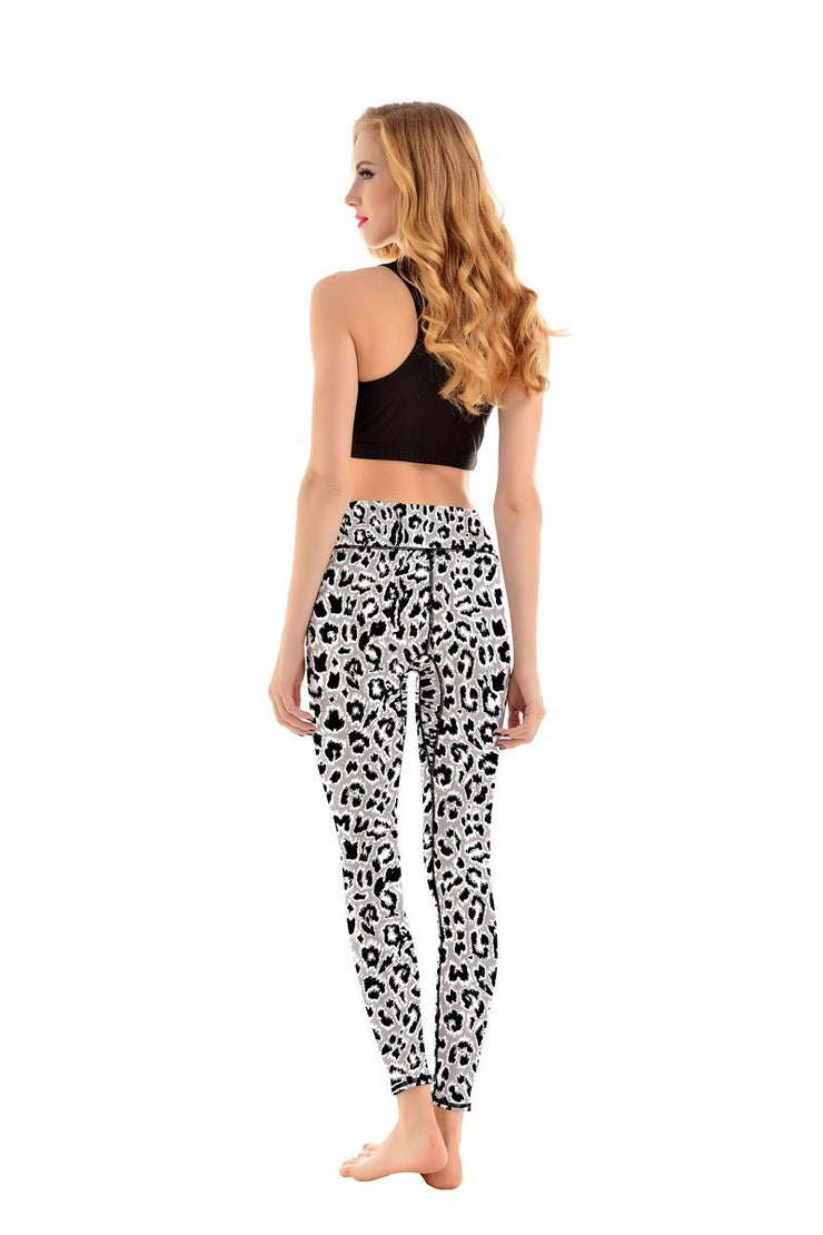 LotusX™ White Leopard Leggings - Lotus Leggings