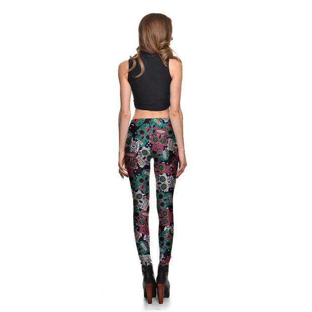Dark Sugar Skull Leggings - Lotus Leggings
