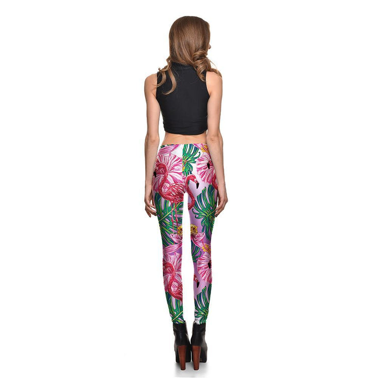 Gradient Flamingo Leggings - Lotus Leggings