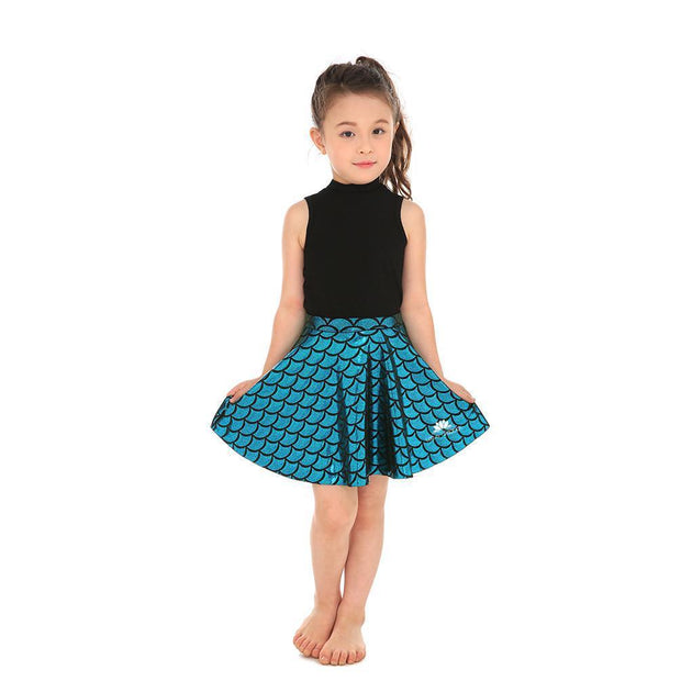 KID'S MERMAID SKATER SKIRT