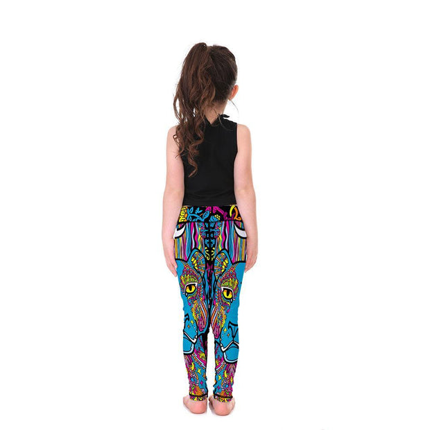 Kid's LotusX™ Animal Mandala Leggings - Lotus Leggings