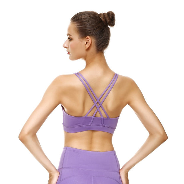 Lavender Criss-Cross Bras - Lotus Leggings