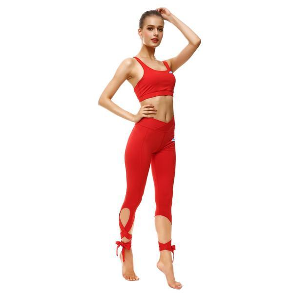 ROSY RED TIE-UP SPORTS SET
