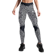 BLACK & WHITE MANDALA LEGGINGS