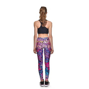 Cotton Candy Mosaic Athletic Leggings - Lotus Leggings