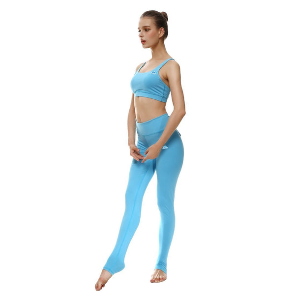 Baby Blue Bow Sports Set - Lotus Leggings