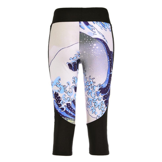 THE GREAT WAVE ATHLETIC CAPRI - Lotus Leggings