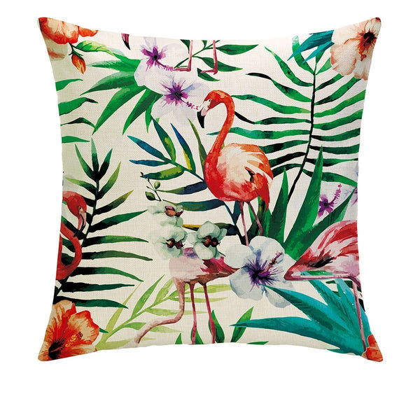 Botanical Flamingo Pillow Cover - Lotus Leggings