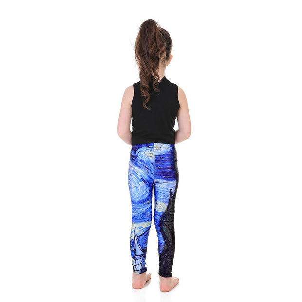Kid's Starry Night Leggings - Lotus Leggings