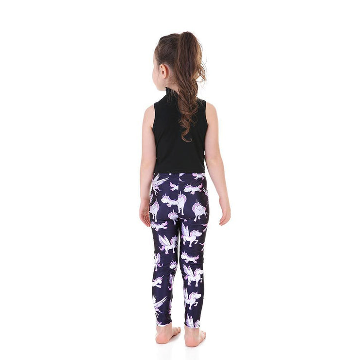 Kid's Flying Unicorn Leggings - Lotus Leggings