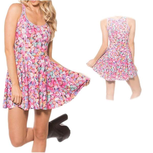 COLORFUL CANDIES SKATER DRESS