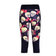COLORFUL SKULLS ATHLETIC CAPRI - Lotus Leggings